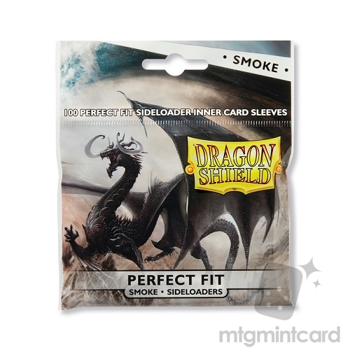 Dragon Shield 100 - Perfect Fit Deck Protector Sleeves - Smoke Sideloaders - AT-13123