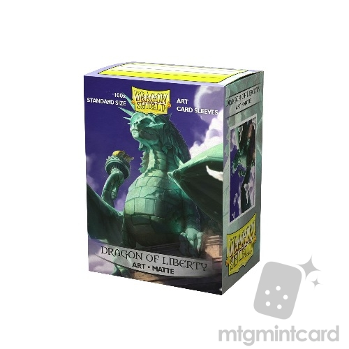 Dragon Shield 100 - Standard Deck Protector Sleeves - Art Matte Dragon of Liberty - AT-12052