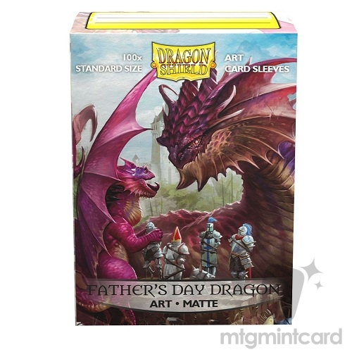 Dragon Shield 100 - Standard Deck Protector Sleeves - Art Matte Father's Day Dragon 2020 - AT-12049