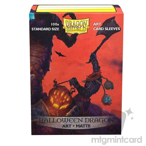 Dragon Shield 100 - Standard Deck Protector Sleeves - Art Matte Halloween Dragon - AT-12022