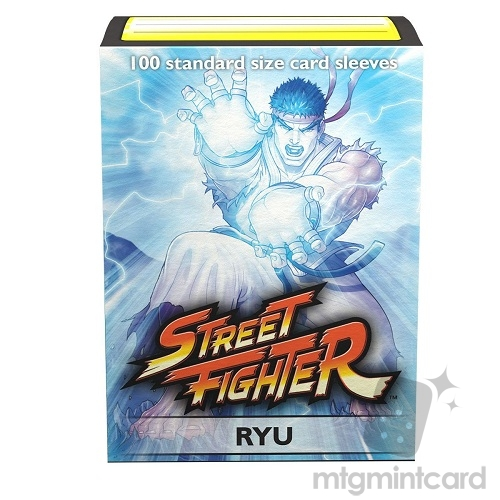Dragon Shield 100 - Standard Deck Protector Sleeves - Art Sleeve Street Fighter Ryu - AT-16011