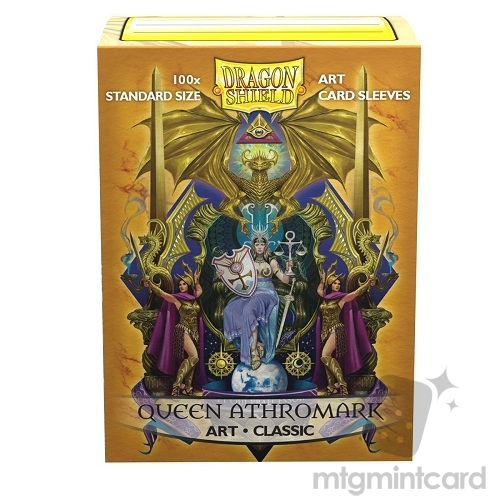 Dragon Shield 100 - Standard Deck Protector Sleeves - ​​Classic Art Queen Athromark - Coat-of-Arms - AT-12025