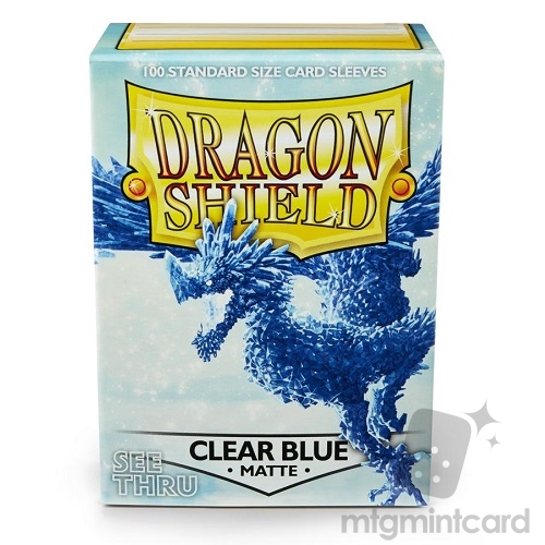 Dragon Shield 100 - Standard Deck Protector Sleeves - Matte Clear Blue - AT-11033