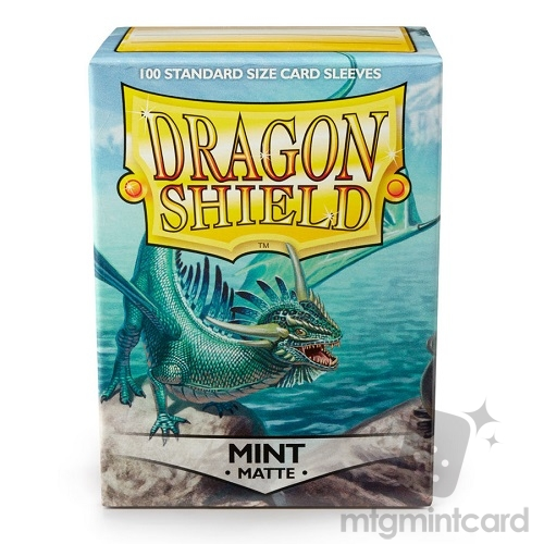Dragon Shield 100 - Standard Deck Protector Sleeves - Matte Mint - AT-11025