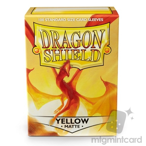 Dragon Shield 100 - Standard Deck Protector Sleeves - Matte Yellow - AT-11014