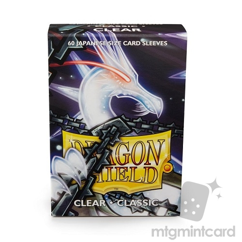 Dragon Shield 60 - Deck Protector Sleeves - Japanese size Clear - AT-10601
