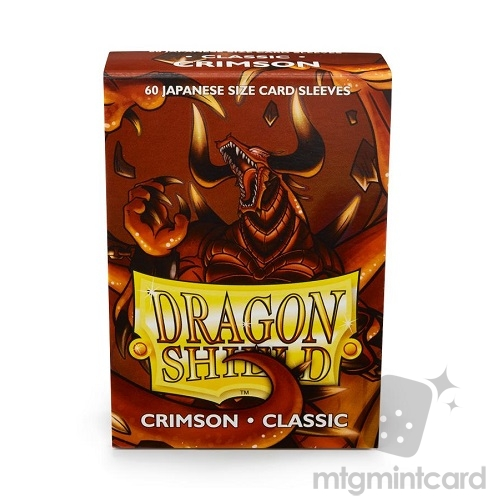 Dragon Shield 60 - Deck Protector Sleeves - Japanese size Crimson - AT-10621