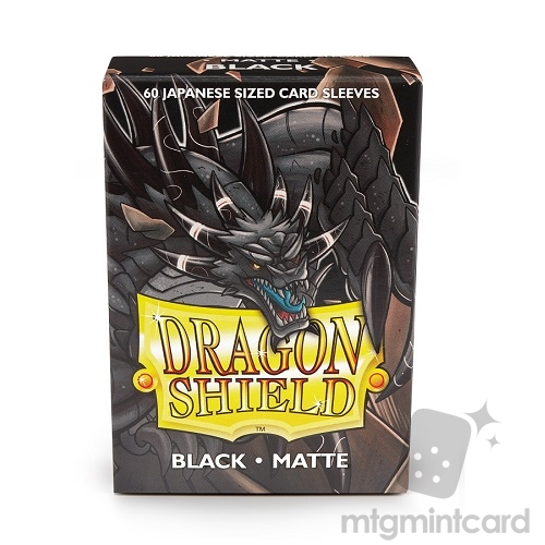 Dragon Shield 60 - Deck Protector Sleeves - Japanese size Matte Black - AT-11102