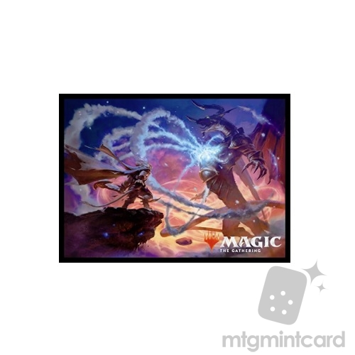 Ensky 80 - Magic MTG Players Card Sleeves - M19 - Ajani's Last Stand - MTGS-043