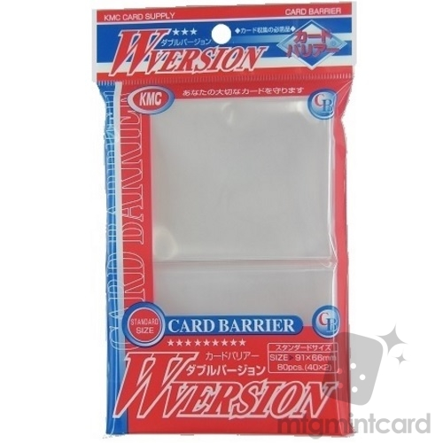 KMC 80 card sleeves deck protectors - Card barrier W-version