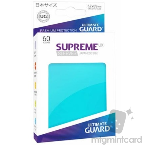 Ultimate Guard 60 - Supreme UX Sleeves Japanese Size - Aquamarine - UGD010576