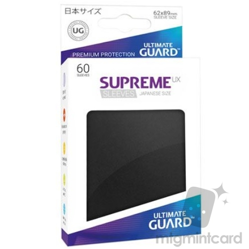 Ultimate Guard 60 - Supreme UX Sleeves Japanese Size - Black - UGD010568