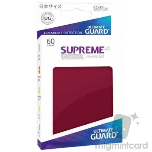 Ultimate Guard 60 - Supreme UX Sleeves Japanese Size - Burgundy - UGD010609