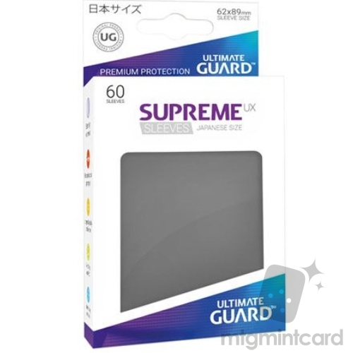 Ultimate Guard 60 - Supreme UX Sleeves Japanese Size - Dark Grey - UGD010569