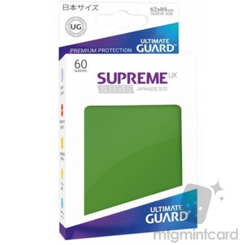 Ultimate Guard 60 - Supreme UX Sleeves Japanese Size - Green - UGD010573
