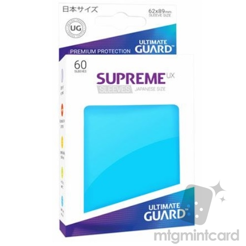 Ultimate Guard 60 - Supreme UX Sleeves Japanese Size - Light Blue - UGD010577