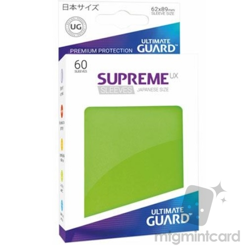 Ultimate Guard 60 - Supreme UX Sleeves Japanese Size - Light Green - UGD010572