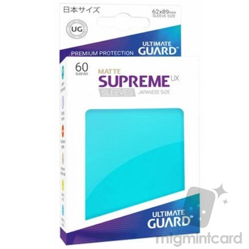 Ultimate Guard 60 - Supreme UX Sleeves Japanese Size - Matte Aquamarine - UGD010595