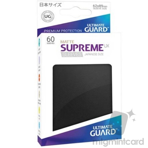 Ultimate Guard 60 - Supreme UX Sleeves Japanese Size - Matte Black - UGD010587