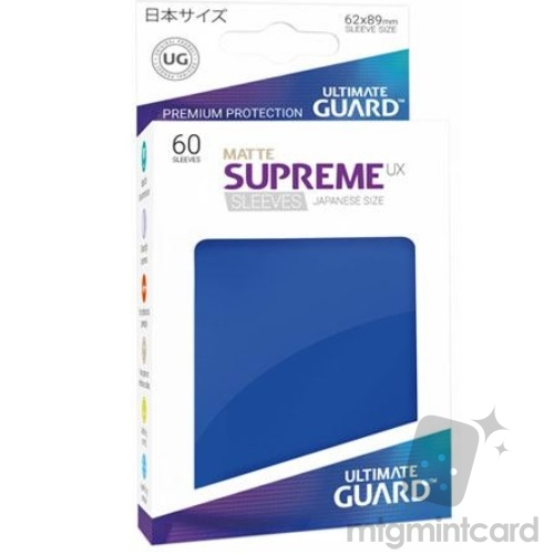 Ultimate Guard 60 - Supreme UX Sleeves Japanese Size - Matte Blue - UGD010598