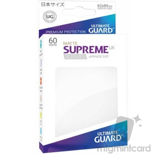 Ultimate Guard 60 - Supreme UX Sleeves Japanese Size - Matte White - UGD010589