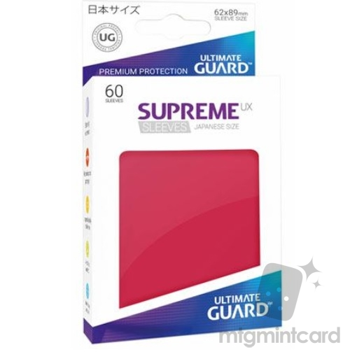 Ultimate Guard 60 - Supreme UX Sleeves Japanese Size - Red - UGD010582