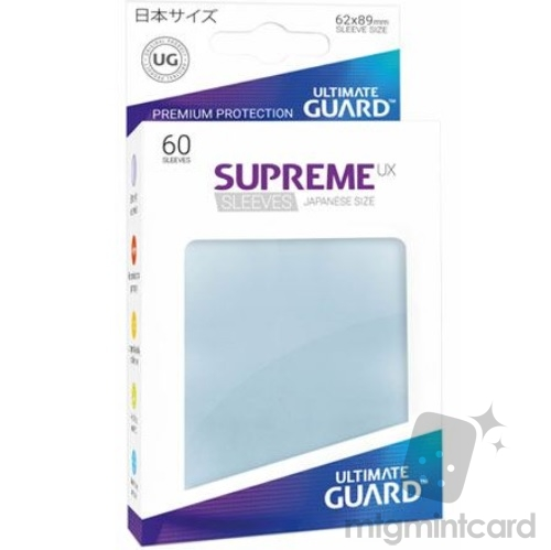 Ultimate Guard 60 - Supreme UX Sleeves Japanese Size - Transparent - UGD010571