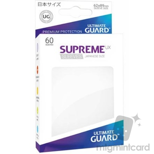 Ultimate Guard 60 - Supreme UX Sleeves Japanese Size - White - UGD010570
