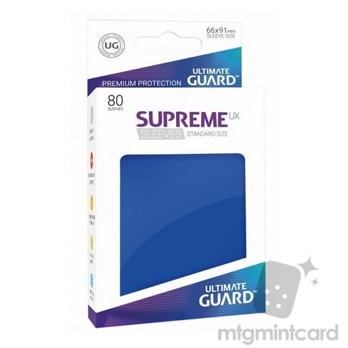 Ultimate Guard 80 - Supreme UX Sleeves Standard Size - Blue - UGD010541