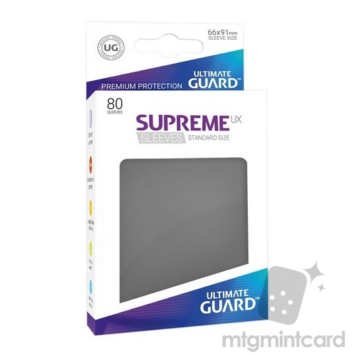 Ultimate Guard 80 - Supreme UX Sleeves Standard Size - Dark Grey - UGD010531