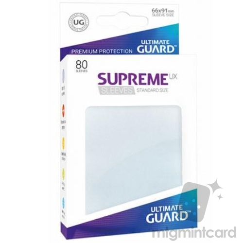 Ultimate Guard 80 - Supreme UX Sleeves Standard Size - Frosted - UGD010626