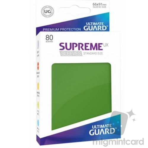 Ultimate Guard 80 - Supreme UX Sleeves Standard Size - Green - UGD010535