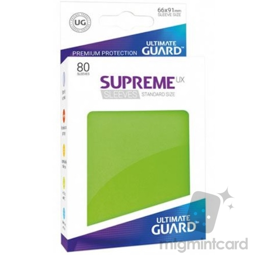 Ultimate Guard 80 - Supreme UX Sleeves Standard Size - Light Green - UGD010534