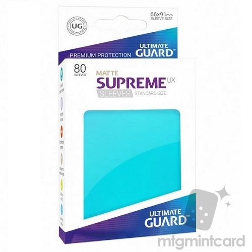 Ultimate Guard 80 - Supreme UX Sleeves Standard Size - Matte Aquamarine - UGD010557