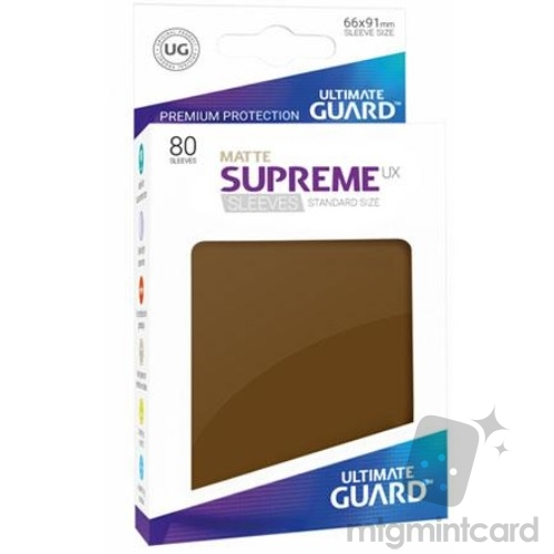 Ultimate Guard 80 - Supreme UX Sleeves Standard Size - Matte Brown - UGD010567