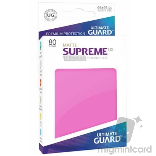 Ultimate Guard 80 - Supreme UX Sleeves Standard Size - Matte Pink - UGD010562