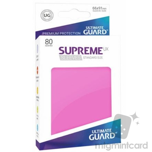 Ultimate Guard 80 - Supreme UX Sleeves Standard Size - Pink - UGD010543