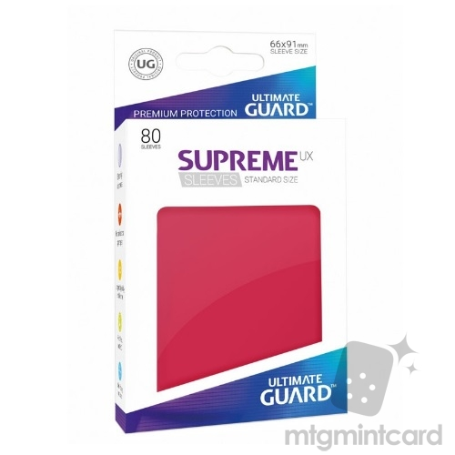 Ultimate Guard 80 - Supreme UX Sleeves Standard Size - Red - UGD010544
