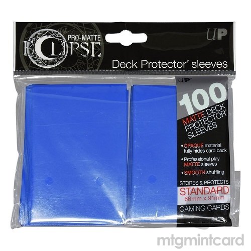 Ultra PRO 100 - Pro Matte Eclipse - Standard Deck Protector Sleeves - Pacific Blue - 85602