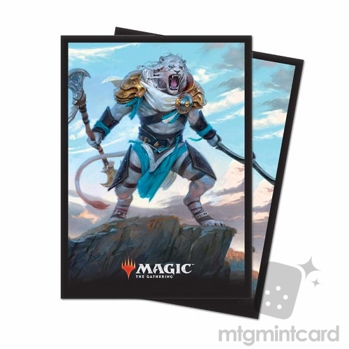 Ultra PRO 80 Magic Deck Protector Sleeves - Core Set 2019 - v1 Ajani, Adversary of Tyrants - 86783