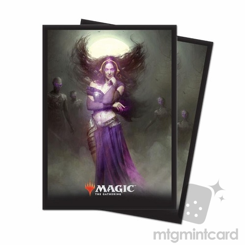 Ultra PRO 80 Magic Deck Protector Sleeves - Core Set 2019 - v3 Liliana, Untouched by Death - 86785