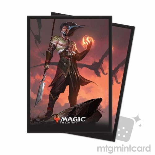 Ultra PRO 80 Magic Deck Protector Sleeves - Core Set 2019 - v4 Sarkhan, Fireblood - 86786