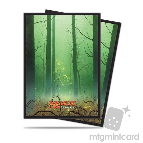 Ultra PRO 80 Magic the Gathering Deck Protector Sleeves - Mana 5 - Forest - 86458