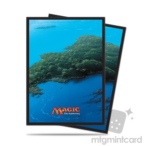 Ultra PRO 80 Magic the Gathering Deck Protector Sleeves - Mana 5 - Island - 86455