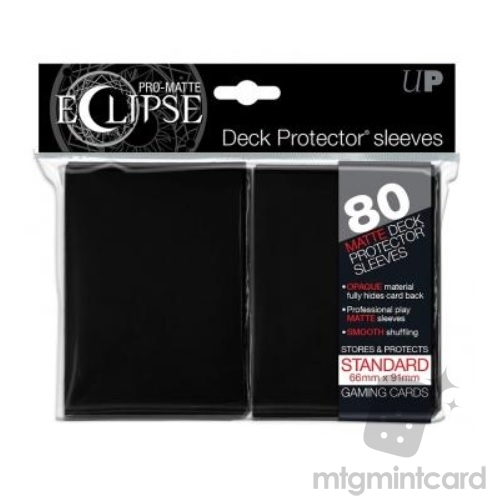 Ultra PRO 80 - Pro Matte Eclipse - Standard Deck Protector Sleeves - Black - 85345