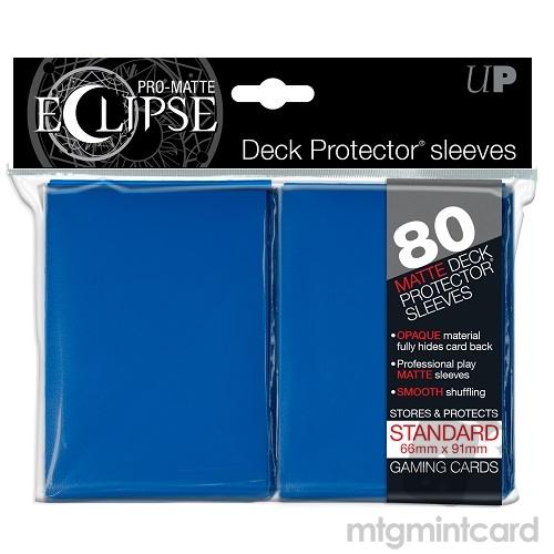 Ultra PRO 80 - Pro Matte Eclipse - Standard Deck Protector Sleeves - Blue - 85111
