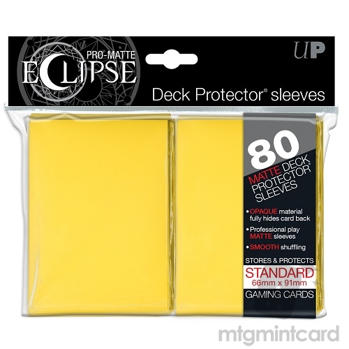 Ultra PRO 80 - Pro Matte Eclipse - Standard Deck Protector Sleeves - Yellow - 85112