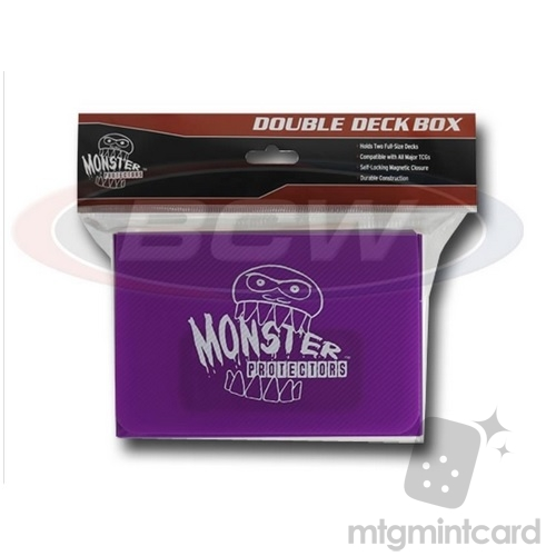 BCW - Monster Protectors Double Deck Box - Matte Purple - MB-DD-MPU
