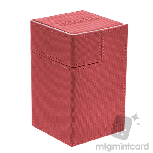 Ultimate Guard 100+ Xenoskin Flip n Tray Deck Case Box - Red - UGD010375