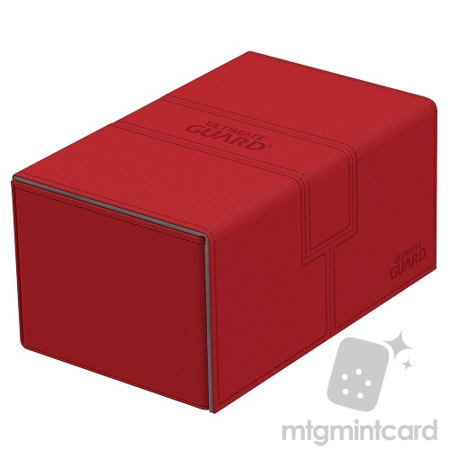 Ultimate Guard 160+(New design) Xenoskin Twin Flip n Tray Deck Case Box - Red - UGD010651
